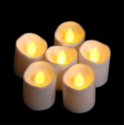 Led Tealights Flickering White Candles Realistic Flame Glitter Unscented With Power Decorations For Outdoor Bar Restaurant Party Home Birthday set of 12pcs