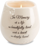 Light Your Way Memorial 19178 in Memory Beautifully Lived Ceramic Soy Wax Candle