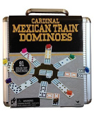 Mexican Train Domino Game in an Aluminium Case by Cardinal Industries, New