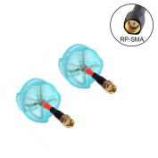 Crazepony FPV Mushroom Antenna, 2pcs Foxeer 5.8G Circular Polarised Omni Antennae 3dBi RHCP RP-SMA Male Blue for FPV Multicopter