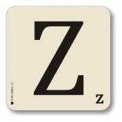 Alphabet Table Mat Letter Z