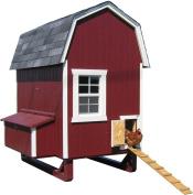 Little Cottage Company Gambrel Barn Coop 1.2mx1.8m DIY Chicken Coop Kit