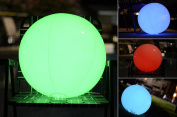 Light up Beach Ball [Large] | Glow in the dark with Colour Changing LED Lights | Great for Parties, Pool, Barbecues, or Decoration