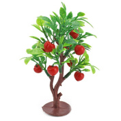 Qiyun 10cm Fruit Tree Layout Scene Model Miniature Dollhouse Plant Ornament Decor Baby Toys Red fruit