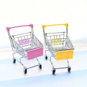 2 Pcs Mini Shopping Cart Supermarket Handcart Shopping Utility Cart Mode Storage Toy
