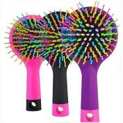 Youphoreah DRB-318-PUR 6 x 7.6cm x 2.5cm . Korean Designed Detangler Hair Brush44; purple