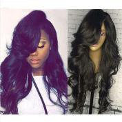 Brazilian Wavy Human Hair Wig Glueless Lace Front Wigs Body Wave Lace Front Human Hair Wig With Bangs