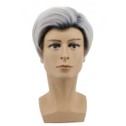 Yuehong Men's Short Anime Straight Cosplay Costume Wig For Halloween