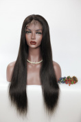Hailey Hair 7A Natural Colour Brazilian Virgin Lace Front Wigs Straight Human Hair Glueless for Black Women with Baby Hair 130% Density 20cm