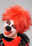 Mens Halloween Scary Killer Clown Red Wig