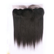 Esth Hair Free Part Lace Frontal 13x 4 Silky Straight Best Brazilian Remy Human Hair Closure Piece With Baby Hair