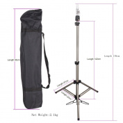 HAIR WAY Mannequin Head Tripod Stand Holder Heavy Duty for Cosmetology, 180cm Adjustable Metal Moving Tripod for Wig-Making, Beauty Hair Salon Styling and Canvas Block Head with Carry Bag