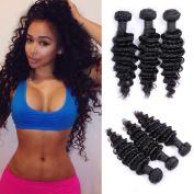 Brazilian Virgin Hair Deep Wave Hair Extensions Unprocessed Remy Human Hair Weave Bundles Natural Colour