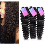 XS Hair 100% Unprocessed Brazilian Deep Wave 3 Bundles Human Hair Extensions Natural Colour Brazilian Virgin Hair Grade 8a