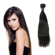 Brazilian Virgin Straight Hair,Zing Silky 100% Unprocessed Real Human Hair Extensions Natural Black Colour 1 Bundle