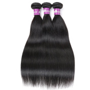 Brazilian Hair Straight HEBE Brazilian Straight Hair 3 Bundles 10 10 25cm 300g 100% Virgin Brazilian Human Hair Weave Extensions Natural Colour