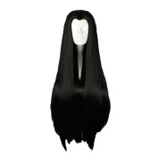 "Mcoser 90CM 35.43"" Long Black Straight Beauty tip Cosplay Wig"