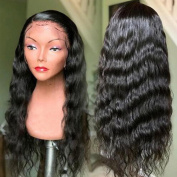 Human Hair Lace Front Wig with Baby Hair 130 Density Brazilian Wavy Hair Wigs for Black Women Natural Colour