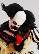 Mens Halloween Freakshow Black Clown Wig Headpiece