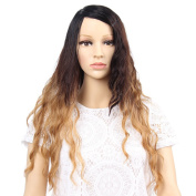 GX Beauty Synthetic Wigs for Women Blonde Ombre Wig Natural Cheap Hair Wig Blonde Wig Dark Roots Long Curly Female Fair