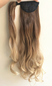Ombre Wrap Around Ponytail Synthetic Clip in Hair Extensions Hairpieces
