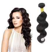 Brazilian Virgin Hair Body Wave, Zing Silky Remy Human Hair Extensions Natural Black Colour 1 Bundle