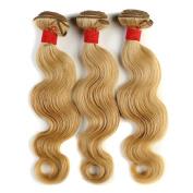 Brazilian Body Wave Colour 27 Virgin Hair Weave 100% Human Hair 3 or 4 Bundles Soft Good Hand Feeling 14-60cm