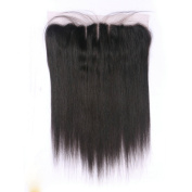 Silky Straight 3 Part 13x 4 Lace Frontal Brazilian Remy Humnan Hair Closure Piece Ear to Ear