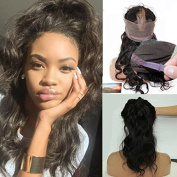 Pre Plucked 360 Lace Frontal with Wig Cap Hot Beauty Brazilian Virgin Hair Natural Hairline Adjustable 360 Lace Frontal With Baby Hair