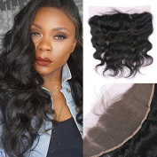 Miss diva Remy Indian Hair Body Wave with Baby Hair Natural Colour 13x 4 Lace Frontal Human Hair Lightly Bleached knots