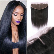 Miss diva Silky Straight with Baby Hair Natural Colour Remy Indian Hair 13x 4 Lace Frontal Human Hair Lightly Bleached knots