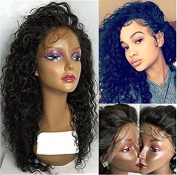 Long Lace Front Human Hair Wigs Lace Front Human Hair Wigs for Black Women Deep Curly Wave Brazilian Virgin Hair Wigs Lace Front Human Hair Wigs with Baby Hair 130% Density
