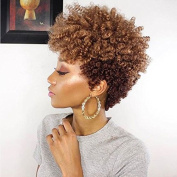 Short Ombre Blonde Curly Wigs For Black Women Short Afro Kinky Curly Synthetic Wigs For Black Women