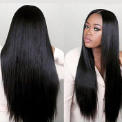 80cm Long Straight Black Hair Wig Heat Resistant Synthetic Wigs For Black Women Natural Wigs With Hairline