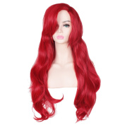 ColorGround Long Wavy Red Halloween Cosplay Wig