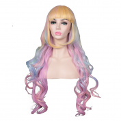 ColorGround Long Wavy Multi Colour Halloween Cosplay Wig