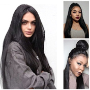 Giannay Hair Pre Plucked 360 Lace Frontal Wig 150% 180% 250% Density Straight 8A Brazilian Virgin Human Hair 360 Lace Wigs with Baby Hair Natural Hairline for Black Women