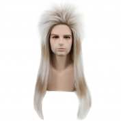 Karlery Long Straight Blonde and Brown Mixed Wig Halloween Costume Cosplay Hair Wig