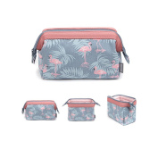 Cosmetic Bag, Portable Travel Beauty Makeup Bag Toiletry Waterproof Make Up Pouch for Purse Cotton Printing Bird