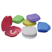 Denture Bath Box Case ,Vanvler False Teeth Appliance Container Storage Cleaner With Hole