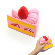 IDS Colourful Sandwich Strawberry Cake, Release Stress Squeezing Toys, Squishy Toys for Kids and Adults
