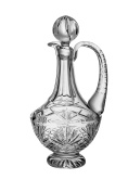 Barski - Hand Cut - Mouth Blown - Crystal - Footed Decanter - With Handle - Majestic Design - 1120ml - Made in Europe