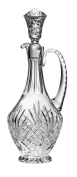 Barski - Hand Cut - Mouth Blown - Crystal - Oversized Decanter - With Handle - Majestic Design - 1360ml - Made in Europe