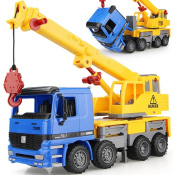 38cm Oversized Friction Crane Truck Construction Vehicle Toy for Kids