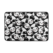 My Little Nest Black and White Cute Panda Area Rug 60cm x 40cm For Bedroom Dining Room Living Room Floor Mat Lightweight Carpet, Unique Anti Skid Indoor Outdoor Decor Soft Rug Carpets