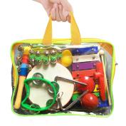 11Pcs GiftedMusicKids | Kids Musical Instruments Set Percussion Toy Rhythm Band Set Drum