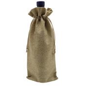 Ankirol 10pcs Burlap Bottle Bags With Drawstring Gift Packaging Wine Bags 15cm x 36cm Reusable Bottle Wrap Dresses Pouches