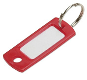 Lucky Line Key Tag With Ring; Red, 50 Per Bag