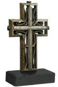 Unity Cross Rustic Collection Hand Scraped Rustic Beech with Vintage Bronze colour centre