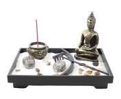 Tabletop Zen Garden Buddha Rock Rake Sand Candle Incense Burner Home Decor Gift